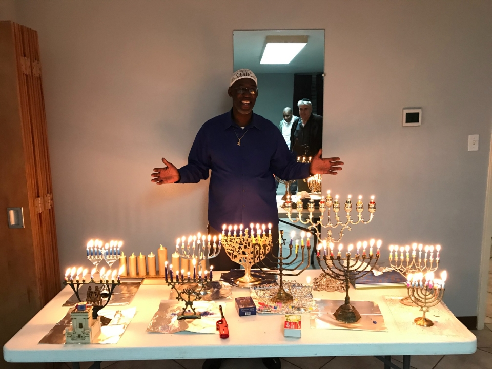 Hanukkah, Festival of Lights... And the food was great!!