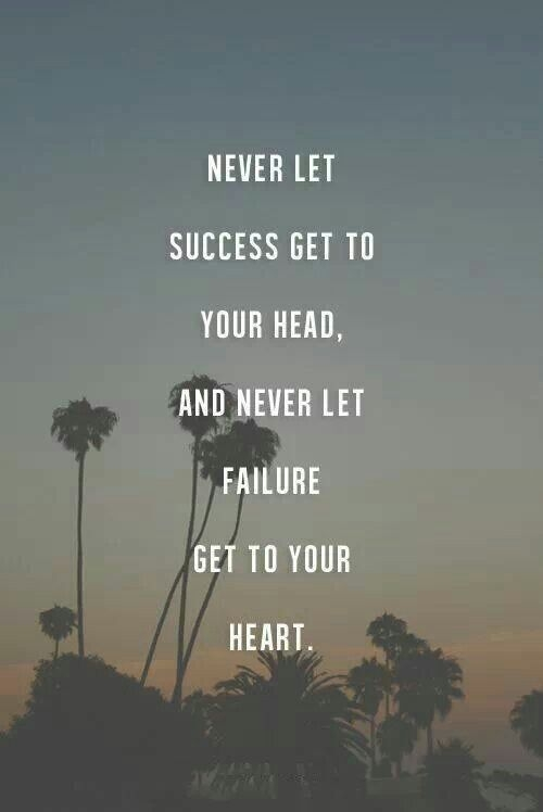 NEVER LET IT GET TO...