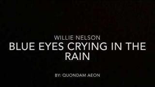 Blue eyes crying in the rain - Willie Nelson (lyrics)
